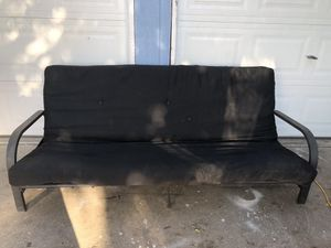 Black Full Size Futon Couch Bed for Sale in Fresno, CA