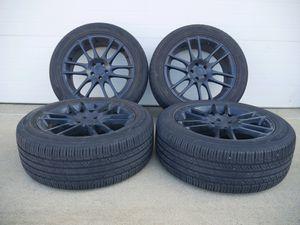 20- Inch Kmc Pivot Satin Black Rims And Hankook Tires (VERY NICE!!!) for Sale in Glen Burnie, MD