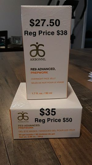 Arbonne OverNight Face Jelly + Gel Eye Masks for Sale in Mount Angel, OR