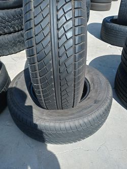 225/75/15 ST 95% LIFE TRAILER TIRES LIKE NEW 10PLY 90 FOR 2 USED TIRES for Sale in Riverside,  CA