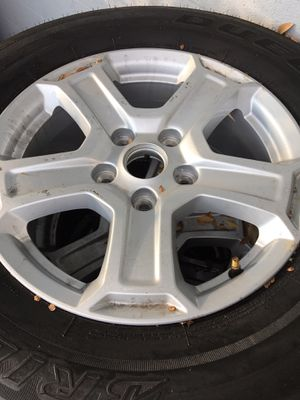 Used (5) Jeep wheels and tires for Sale in La Habra Heights, CA