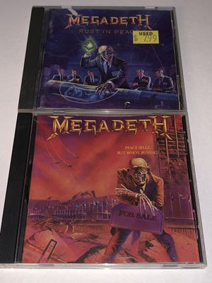 "Megadeth - ""Rest In Peace"" ""Peace Sells But Who's Buying? 1990 ,1986 for Sale in Orange, CA"