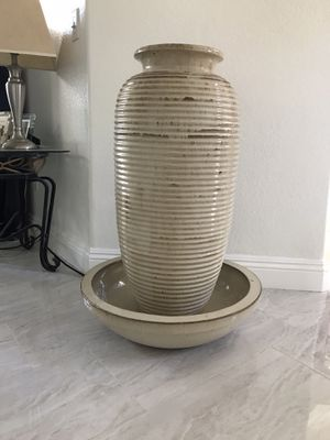 """Ceramic water fountain. Can also be used outdoor. Kind of like new its 34"""" tall. Almost 3 ft tall for Sale in Chino Hills, CA"""