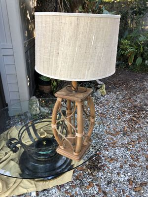Mid Century Bamboo style Lamp for Sale in NW PRT RCHY, FL