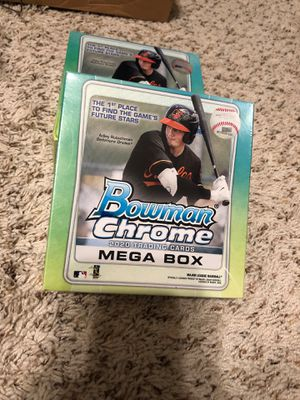 Lot of 5 2020 Topps Bowman Chrome Baseball MLB Mega Box Sports Cards Brand New Sealed for Sale in Spring, TX