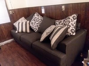 3 seat sofa...only used it for a month..comes with 2 small side tables and one bigger living room table... for Sale in Harvey, MI