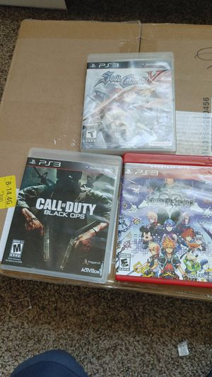 Ps3 call of duty, kingdom hearts, soul calibur all together for 25$ for Sale in Chicago, IL