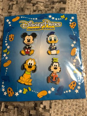 Disney parks pins new original Mickey Donald Duck goofy and Pluto for Sale in Houston, TX