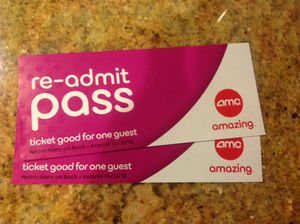 2 AMC Movie tickets! for Sale in Los Angeles, CA