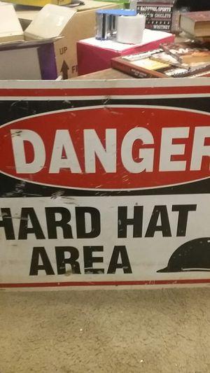 Vintage metal construction sign for Sale in Penndel, PA