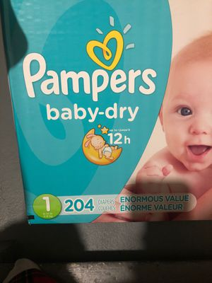 Papers size 1 204 pampers for Sale in Brockton, MA