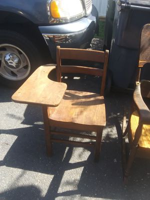 1940's Antique Solid Wood School Desk for Sale in Stafford, VA