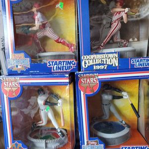 Lot Of Four KENNER STARTING LINEUP STADIUM STARS 7INCH TALL ACTION FIGURES NEW IN BOX all For $25 for Sale in Clovis, CA