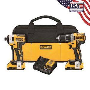 Dewalt xr 2 tool combo kit dck283d2 for Sale in Seattle, WA