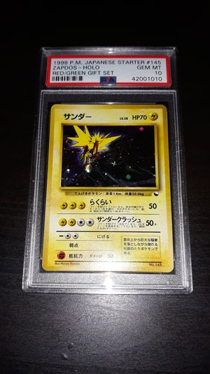 Pokemon Zapdos Japanese Quick Starter Gift Set PSA10 GEM MINT for Sale in Queens, NY