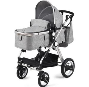 Folding Aluminum Baby Stroller With Diaper Bag - Gray for Sale in Alta Loma, CA