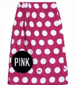 VICTORIA'S SECRET PINK POLKA DOT TOWEL WRAP WITH POCKET for Sale in Aliquippa,  PA
