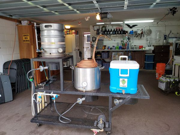 2 Tier Homebrewing Rig