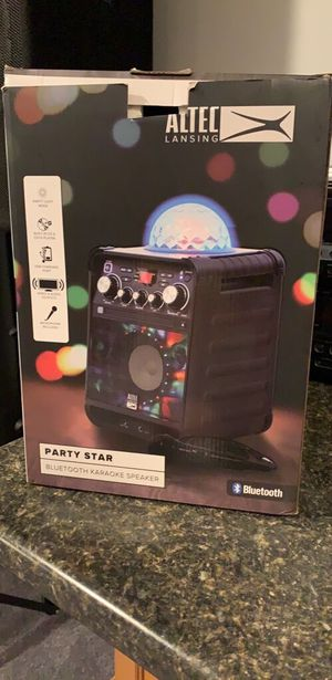 Altec Lansing Party Star Bluetooth Speaker/Kareoke for Sale in Imperial, MO