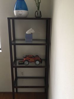 Wood And Glass Shelf, Bookcase, Cabinets for Sale in Montebello,  CA