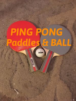 PAIR OF FRANKLIN BRAND PING PONG PADDLES & BALL for Sale in Winthrop, MA
