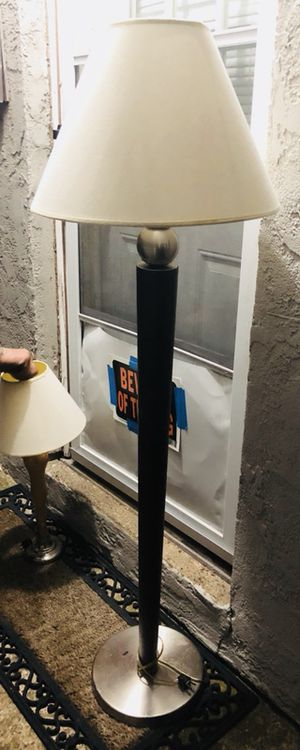 Tall floor lamps and short table lamps both wood with metal bases!! for Sale in Levittown, PA