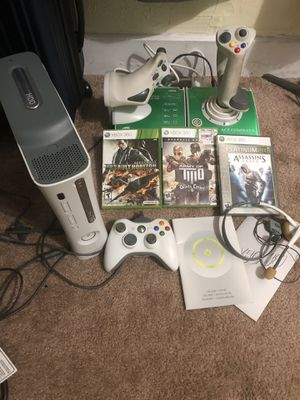 Special Xbox 360 Bundle w/Flight Joystick and 3 Games for Sale for sale  Philadelphia, PA
