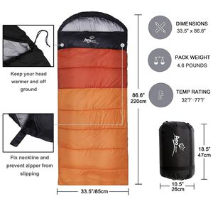 Camping Sleeping Bag, Waterproof Envelope Lightweight Portable Great For 4 Season Traveling, Camping, Hiking, Backpacking and Outdoor Activities For for Sale in Fremont, CA