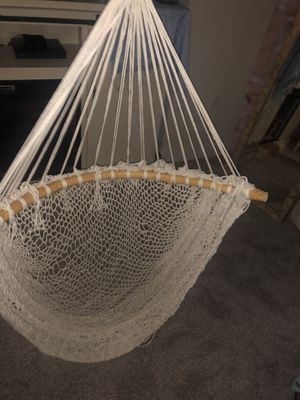 Handmade macrame hanging chair for Sale in Wheat Ridge, CO