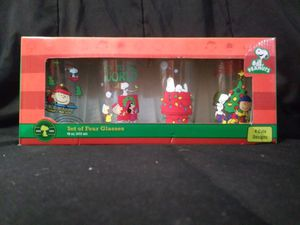 Set of 4 Christmas Snoopy Glasses for Sale in Garland, TX