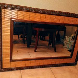 Vintage Bamboo Mirror for Sale in Houston, TX