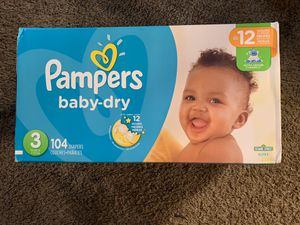 Pamper baby dry size 3 for Sale in West Covina, CA