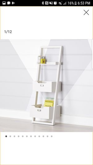 White Little Sloane Leaning Bookcase/Bins for Sale in Chicago, IL