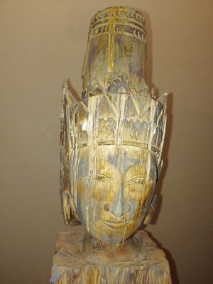 Large Buddha Sculpture (Solid Wood) for Sale in Kissimmee, FL