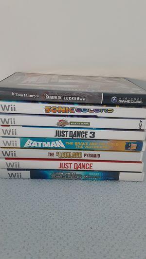 Games Nintendo Wii $10 each obo for Sale in Corona, CA