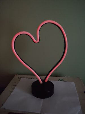 Big Valentine Neon Lite up HEART for Sale in Gray, ME