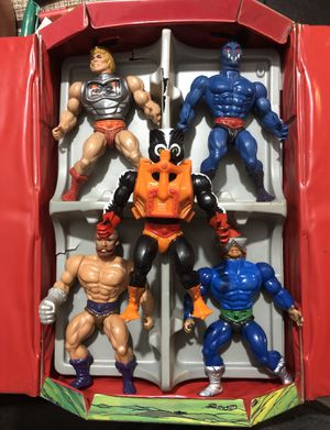 HE-MAN 1984 collector box plus 5 figures for Sale in Irving, TX