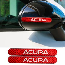 BRAND NEW 2PCS ACURA RED REAL CARBON FIBER STICKER EMBLEM for Sale in City of Industry,  CA