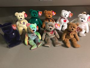 Collectible Bear Beanie Babies for Sale in Nashua, NH