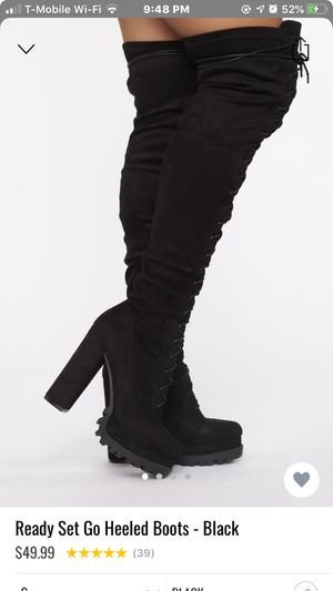 high knee boots black for Sale in Bell, CA