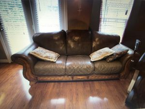 Leather couch with love seat for Sale in Smyrna, TN