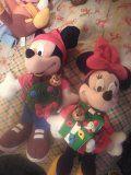 Mickey and Minnie Christmas dolls