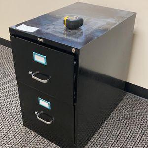 File Cabinet 2 Drawer Metal Black for Sale in Miami, FL