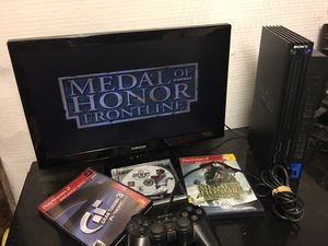 PlayStation 2 with games for Sale in Meriden, CT