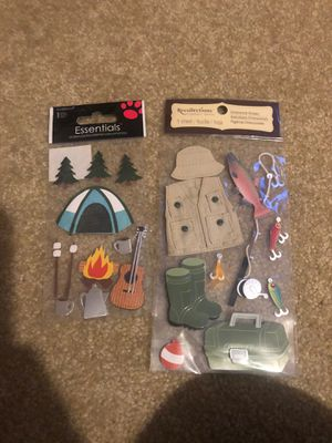 Camping, Tent, RV, Wildlife, Fishing, 3D Scrapbooking Stickers for Sale in Plainfield, IL