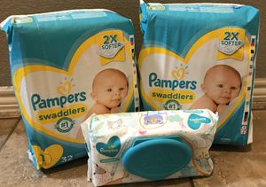 Pampers and wipes size 1 $12 for Sale in Arlington, TX