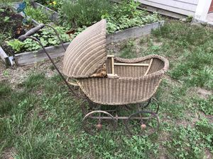 Antique Wicket Doll Carriage in good shape for Sale in Boston, MA
