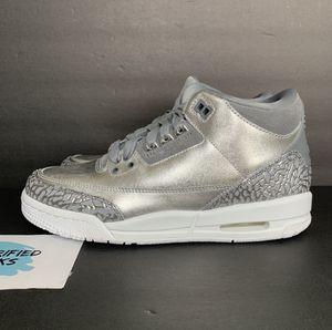 """Air Jordan Retro 3 Premium """"Chrome"""" for Sale in Fort Worth, TX"""