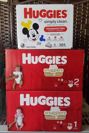HUGGIES BABY BUNDLE. PICKUP ONLY. PHILADELPHIA BROAD AND OLNEY AREA. NO DELIVERY. for Sale in Philadelphia, PA