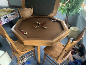 Bumper pool and poker table with chairs for Sale in Golden, CO